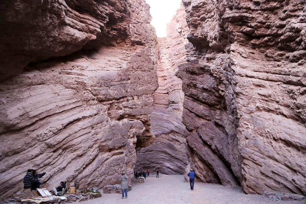 An amphitheater shaped red canyon