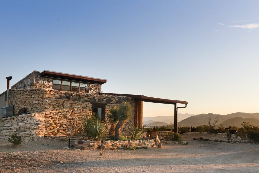 A rock home in the desert