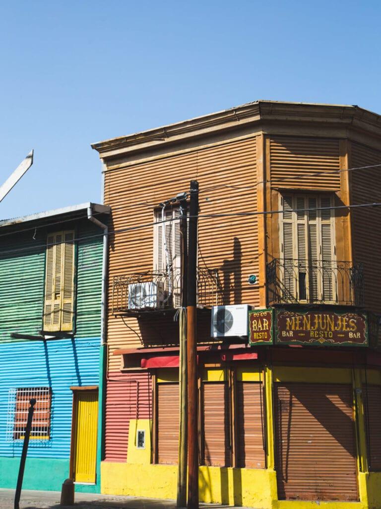 Corrugated iron buildings in La Boca Buenos Aires